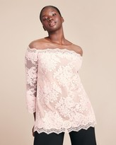 Marchesa Corded Lace Top