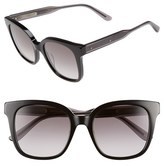 Bottega Veneta Women's 52Mm Sunglasses - Black/ Grey/ Smoke