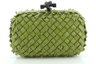 Bottega Veneta Box Knot Clutch Fringe Intrecciato Nappa Small
