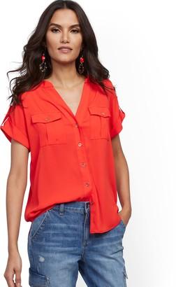 New York & Co. Short-Sleeve Utility Shirt