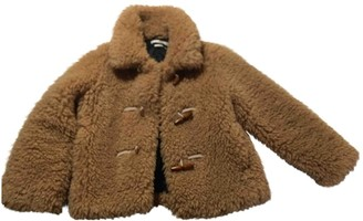 MANGO Camel Faux fur Coat for Women