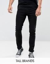 Nudie Jeans TALL Tight Long John Skinny Jeans Black Wash