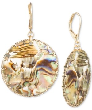 lonna & lilly Gold-Tone Disc Drop Earrings
