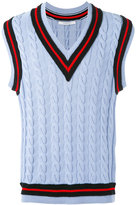 Givenchy cable knit sleeveless jumper - men - Cotton/Polyester/Wool - M