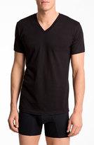 Calvin Klein Men's Big & Tall Basic V-Neck T-Shirt, Size 2XLT - White (2-Pack)