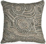 "Donna Karan Home Fuse Beaded 12"" x 12"" Decorative Pillow Bedding"