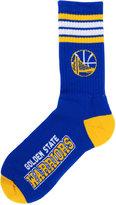 For Bare Feet Golden State Warriors 4 Stripe Deuce Crew 504 Sock