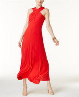 MICHAEL Michael Kors Twisted-Neck Maxi Dress