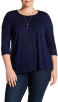 Bobeau 3/4 Sleeve Knit Tee (Plus Size)