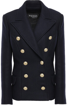 Balmain Double-breasted Wool And Cashmere-blend Felt Jacket