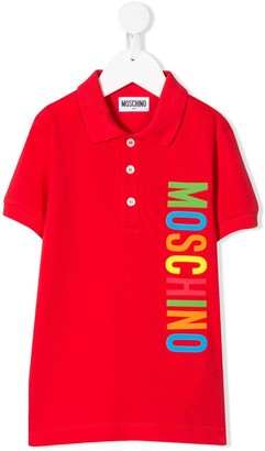 MOSCHINO BAMBINO Rainbow Logo-Printed Polo Shirt