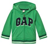 Gap Parrot Green Shadow Logo Fleece Zip Hoodie