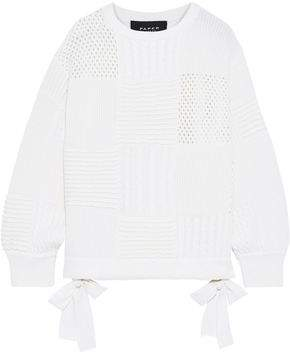 Paper London Patchwork Ribbed, Cable And Open-knit Wool Sweater