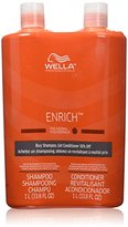 Wella Enrich Shampoo & Conditioner Fine to Normal Hair, Liter Duo 33.8 Oz