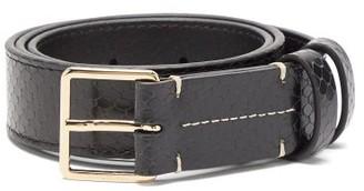 Altuzarra Snake-effect Leather Belt - Womens - Black Multi