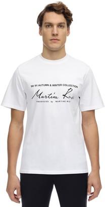 Martine Rose Logo Print Cotton Jersey T-Shirt