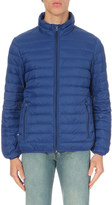 Armani Jeans Funnel-collar quilted shell jacket
