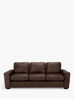 House by John Lewis Oliver Grand 4 Seater Leather Sofa, Dark Leg