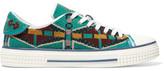 Valentino Beaded Mesh Sneakers - Turquoise