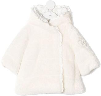 MonnaLisa Shearling Hooded Jacket
