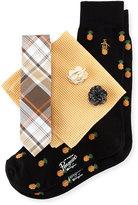 Original Penguin Five-Piece Sock and Tie Box Set, Multi/Pineapple