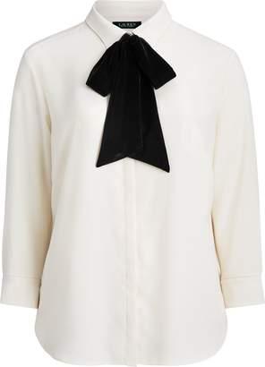 Ralph Lauren Necktie Velvet Shirt