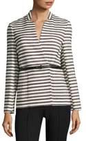 LK Bennett Cora Belted Striped Jacket