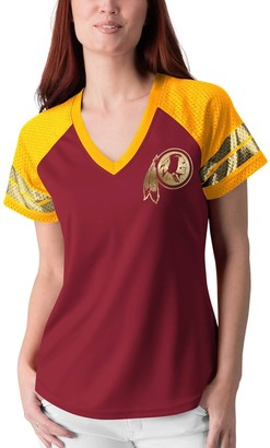 Redskins Women's G-III 4Her by Carl Banks Burgundy Washington Franchise Raglan T-Shirt