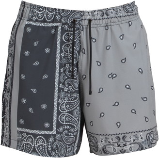 Amiri Bandana Patchwork Swim Trunks