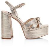 Alice + Olivia Veren Metallic-Leather Platform Sandals