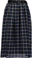 Mother of Pearl Harriet checked cotton and silk-blend skirt