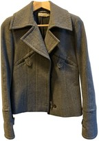 Pinko Grey Wool Jacket for Women
