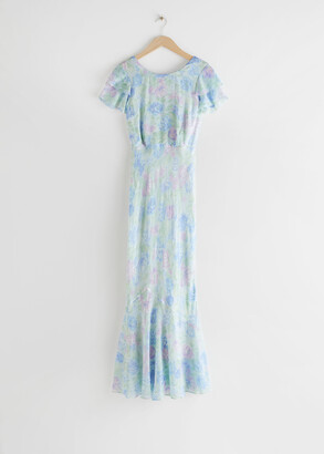 And other stories Bias Cut Ruffled Maxi Dress