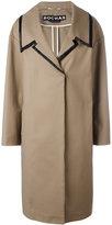 Rochas oversized collar coat - women - Cotton/Spandex/Elastane - 38