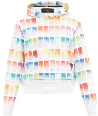 Amiri Watercolour-print Cotton Hooded Sweatshirt - Multi