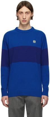 Loewe Blue Striped Anagram Sweater
