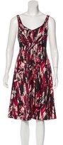 Badgley Mischka Sleeveless Silk Dress