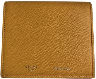 Celine Yellow Leather Wallets