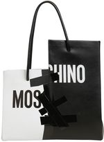 Moschino Cut & Paste Leather Tote Bag