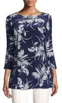 Escada Floral Silk Tunic