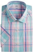 New Men/'s Croft /& Barrow Slim-Fit Spread Collar Green Dress Shirt MSRP $32