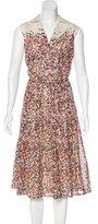 Akris Punto Printed Midi Dress