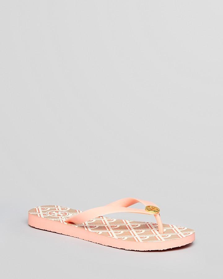 Tory Burch Flip Flops - Printed Deco
