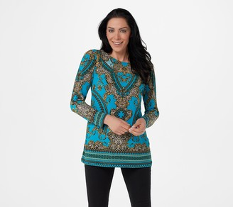 Linea by Louis Dell'Olio Status Print Knit Top