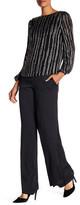 Diane von Furstenberg Wide Leg Stretch Silk Blend Pant