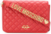 Love Moschino flap closure quilted clutch - women - Polyurethane - One Size