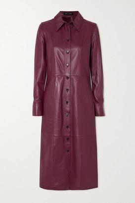 Proenza Schouler Leather Shirt Dress - Red