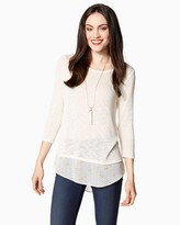 Charming charlie 2-in-1 Dolman Sweater