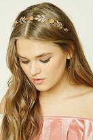 Forever 21 FOREVER 21+ Floral Etched Leaf Headband