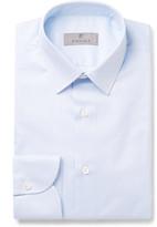 Canali - Blue Slim-fit Pinstriped Cotton-poplin Shirt